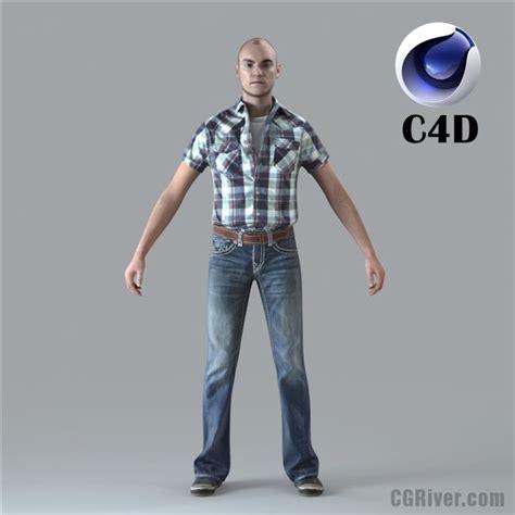 Custom Home 3d Design Software by Free 3d Model Cinema 4d Human Rigged 3d Man