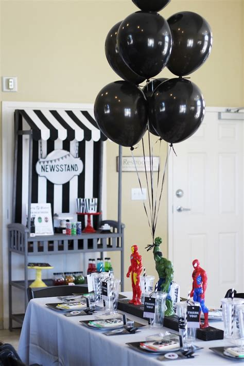 birthday themes man kara s party ideas iron man hulk spiderman superhero