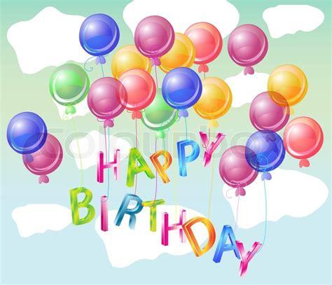 happy birthday bright card beautiful celebration