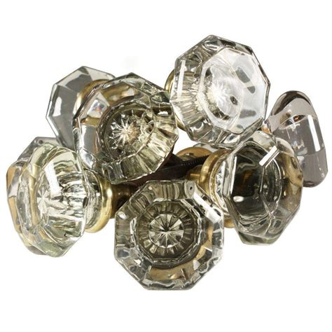Glass Door Knob Sets Antique Octagonal Glass Door Knob Set From Preservationstation On Ruby