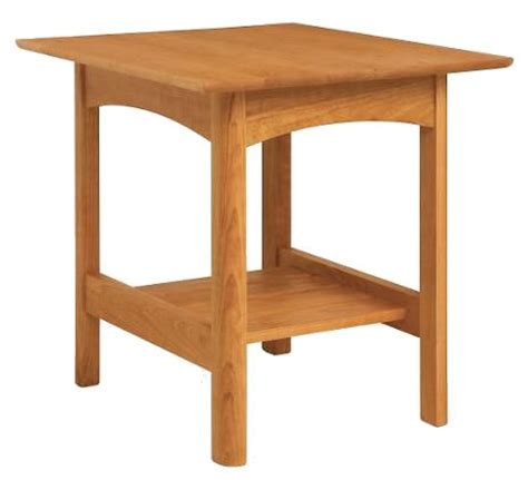 cherry side tables for living room modern shaker end table in natural cherry wood this