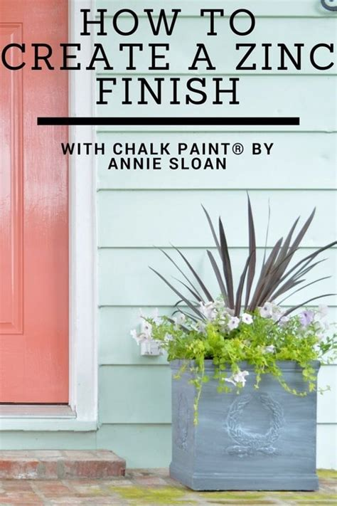 How To Create A Zinc Finish With Chalk Paint 174 Decorative