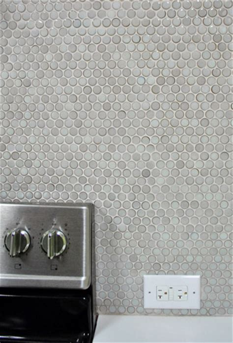 Discount Kitchen Backsplash by How To Grout Penny Tile Young House Love