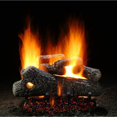 18 Inch Gas Fireplace Logs by Hargrove 18 Inch Classic Oak Vented Gas Log Set