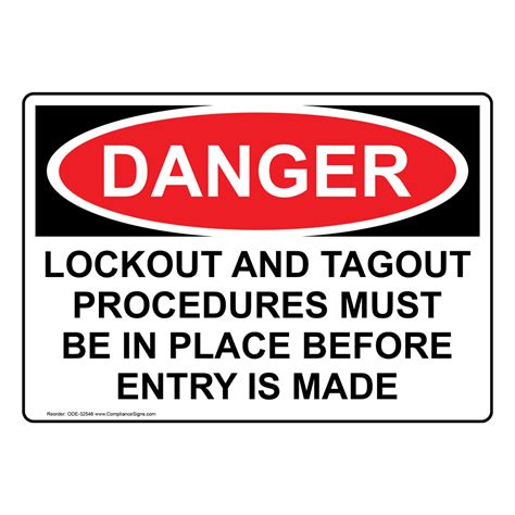 Osha Lockout And Tagout Procedures Must Be In Sign Ode 32546 Cal Osha Lock Out Tag Out Procedure Template