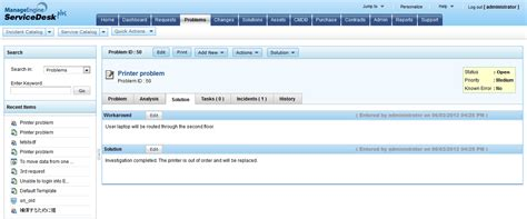 Help Desk Database Template by Itil Problem Management Help Desk Software Manageengine