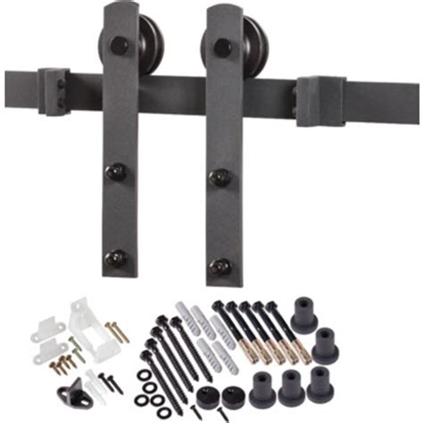 Decorative Barn Door Hinges Decorative Sliding Barn Door Hardware Matt Black Hd Supply