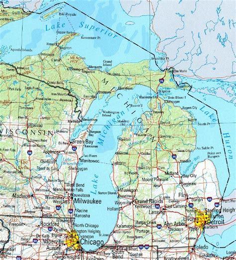 map michigan michigan reference map