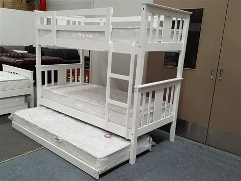 white wood bunk beds with mattresses furniture place elsa single bunk bed with mattresses solid wood in white colour