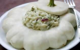 cuisiner patisson blanc recette risotto 224 la cr 232 me de p 226 tisson oignons rouges
