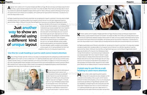 magazine layout envato magazine template indesign 40 page layout v1 by