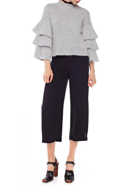 endless ruffle sleeve sweater from new york city by