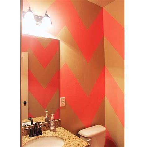 gold bathroom walls pink and gold chevron bathroom walls for the home pinterest