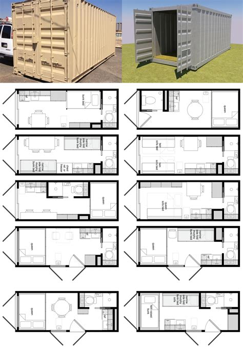 cargo container home plans in 20 foot shipping container