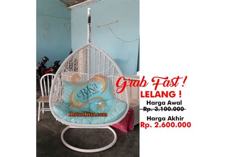 Kursi Santai Anti Air kursi gantung lelang sold out rotankita