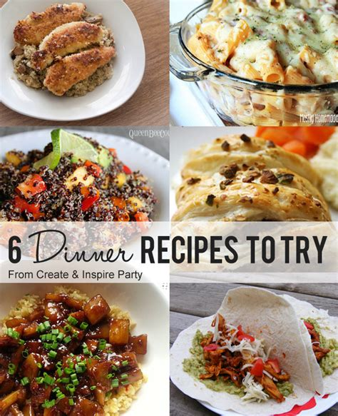 easy recipes for dinner for 6 create inspire 6 7 6 dinner recipes to try