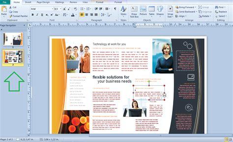 membuat brosur dengan ms word 2013 membuat brosur dengan microsoft office publisher 2010