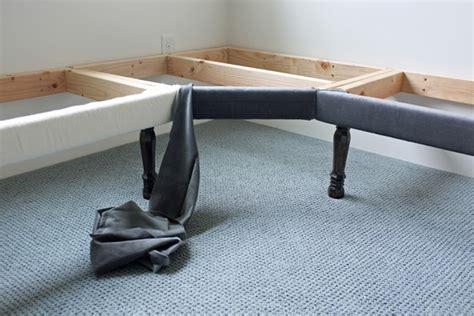 diy upholstered bench with back diy upholstered built in bench part 2
