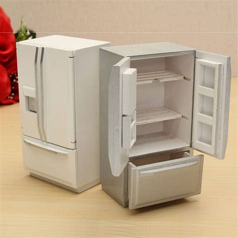 Miniature Dollhouse Kitchen Furniture 1 12 Wooden Dollhouse Miniature Furniture Kitchen Fridge Refrigerator Sale Banggood Sold Out