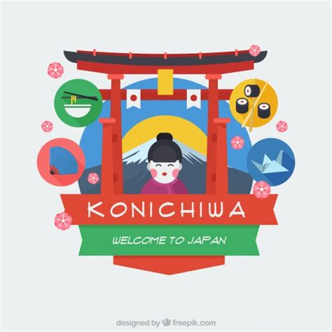 free design japan welcome to japan nice backgorund vector free download