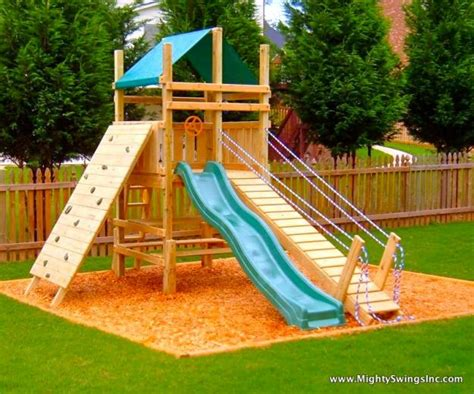 Small Backyard Playground Ideas Backyard Playground Ideas On Sandbox Swing Sets And Children Play