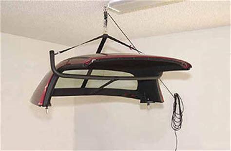 thunderbird roof hoist roadster garage