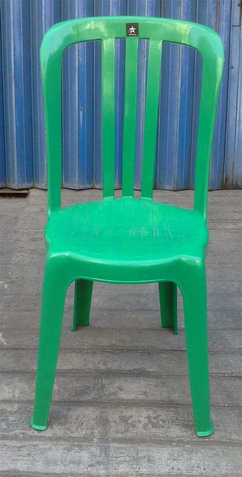 Jual Kursi Pantai Plastik jual kami jual kursi plastik persewaan merk skyplast warna hijau daun harga murah surabaya oleh