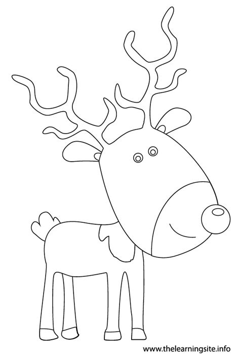 reindeer outline coloring page the learning site