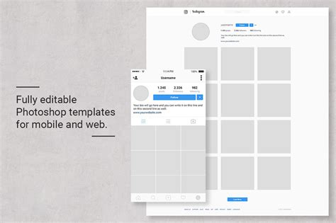 Instagram Feed Planner By Web Donut Thehungryjpeg Com Instagram Feed Template