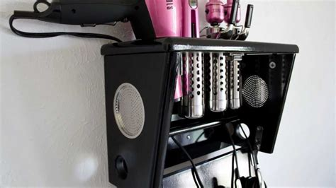 Hair Dryer And Flat Iron Holder Wall Mount inspirations best hair appliance organizer for cool your