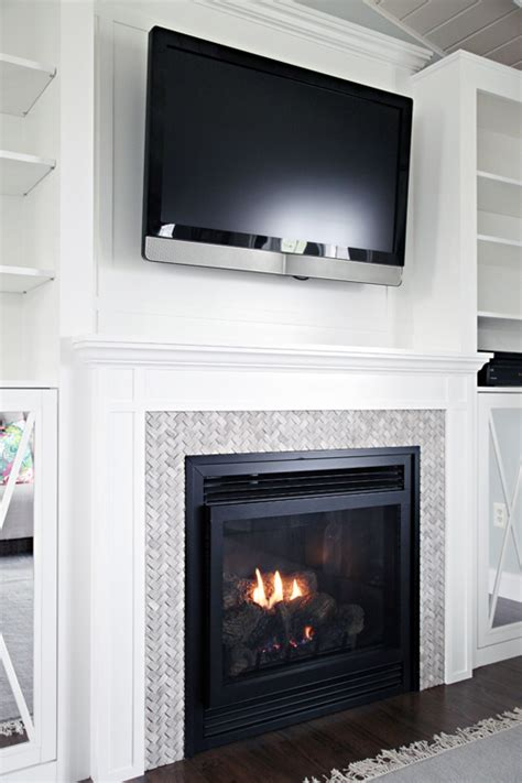Built In Fireplace And Tv by Iheart Organizing Diy Fireplace Built In Tutorial