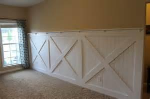 barn door wall barn door wainscoting tutorial remodelaholic