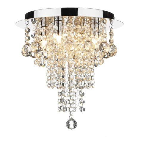 Chandeliers For Low Ceilings Circular Low Ceiling Light With Cascading Droplets