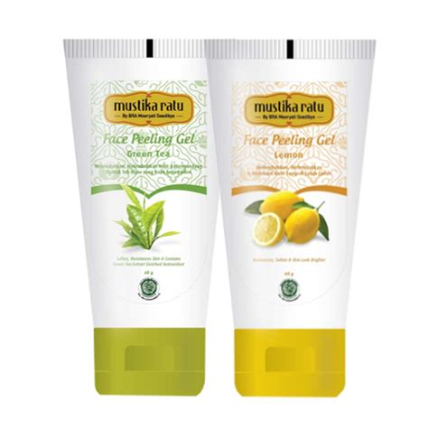 Harga Mustika Ratu Peel Mask Lemon 2 pcs mustika ratu duo care peeling gel dan peel