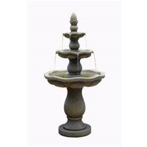 shop garden treasures   resin tiered fountain
