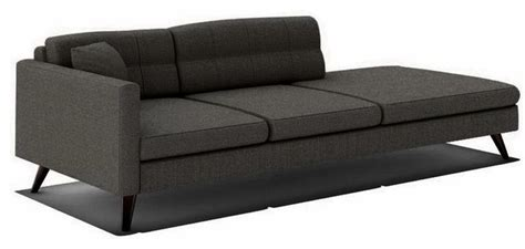 one arm sofa with chaise dane 94 quot one arm sofa with chaise in calvin charcoal