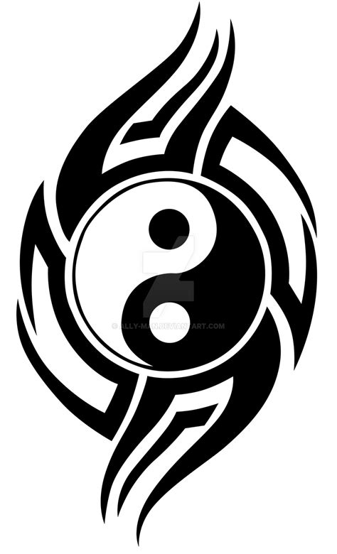 tattoo yin yang tribal tribal yin yang 001 vinyl graphic idea by ally
