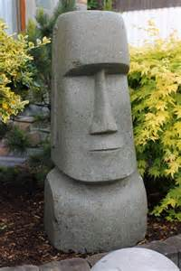 garten steinfiguren statue moai osterinsel steinfigur kopf