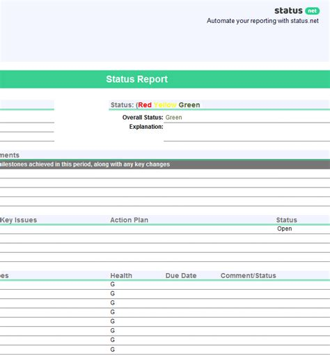1 Smart Project Status Report Template Free Download Project Status Report Template