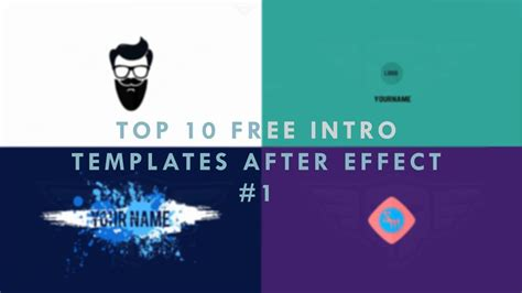 Top After Effects Templates top 10 free 2d intro templates 1 after effects free