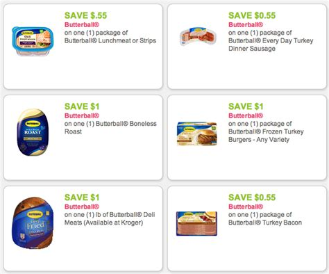 printable butterball turkey coupons 6 new butterball coupons kroger deals kroger krazy