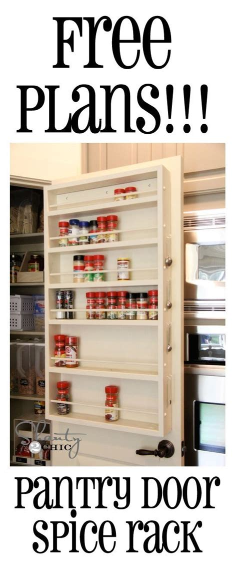 diy pantry spice rack free plans for this spice rack this can go on a door or wall it by sammsfamily ideas