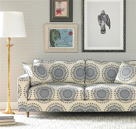 Blue Patterned Sofa by Decorating With Patterned Upholstered Furniture