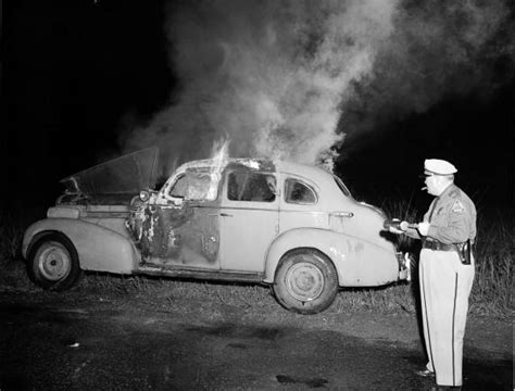 Records Duval County Fl Florida Memory Duval County Patrolman Trying To Extinguish A Burning Car On