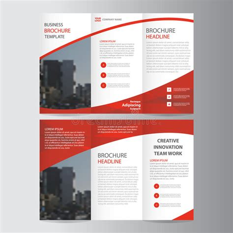 brochure templates for books abstract red trifold leaflet brochure flyer template