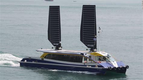 catamaran container ship vindskip cargo ship uses its hull as a giant sail cnn