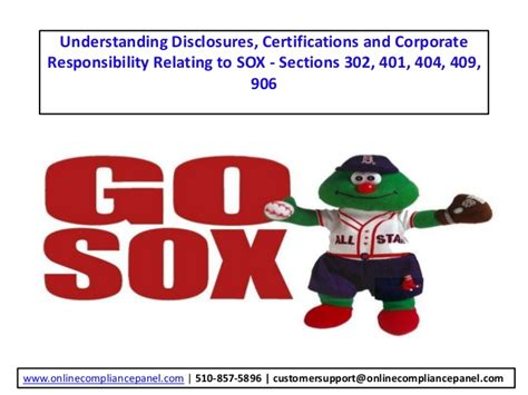 sox section 802 understanding disclosures certifications and corporate