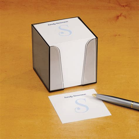personalized note sheets with cube desk accessories