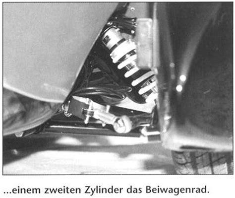 Motorrad Gespann Einstellen by Hydraulische Sw Lenkung Motorrad Gespanne