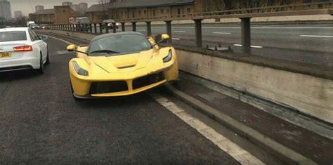 ferrari laferrari crash laferrari crashes in london looks like another in traffic